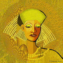 Irmgard Schoendorf Welch -  189 Metallic woman golden pearls
