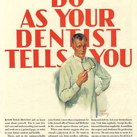 The Advertising Archives -  1920s Usa Dentists Lavoris