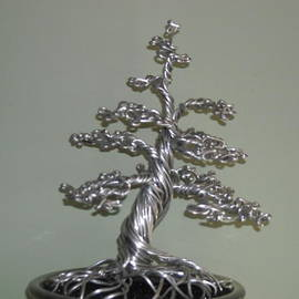 Ricks  Tree Art - # 24 Mighty Ficus Microcarpa bonsai wire tree sculpture