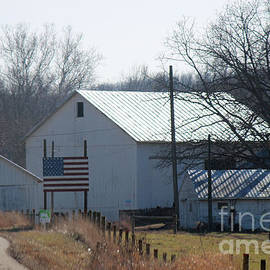 R A W M   -    American Flag and Barn