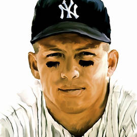 Iconic Images Art Gallery David Pucciarelli -  American Icon Mickey Mantle