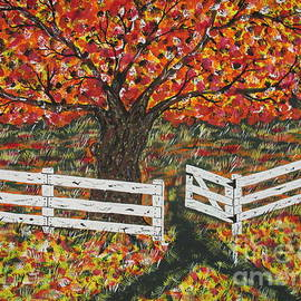 Jeffrey Koss -   Autumn At The White Fence Farm