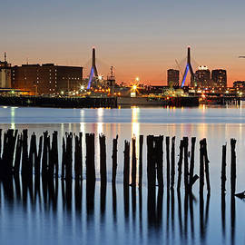 Juergen Roth -  Leonard P. Zakim Bunker Hill Memorial Bridge and Boston Harbor