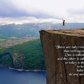 Julia Fine Art And Photography -  Preikestolen Pulpit Rock Norway Dalai Lama Quote