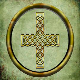 Kandy Hurley -  Watercolor Celtic Cross Celtic Symbol