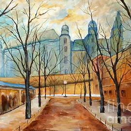 Halina Plewak -   Wawel in the Morning