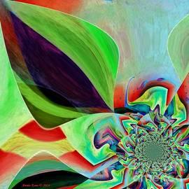 Annie Zeno - Abstract Flower