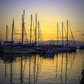 Paul Cowan - Aegina harbour sunset
