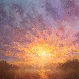 Karen Whitworth - All Things New Impressionistic Sunrise