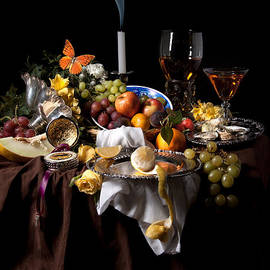 Levin Rodriguez - Banquet with oysters and fruit