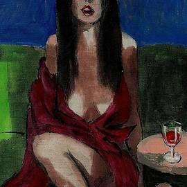 Harry WEISBURD - Bar Fly In Red Dress