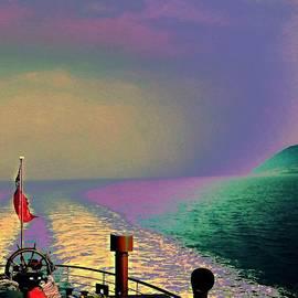 Candy Floss Happy - boat travel art edit