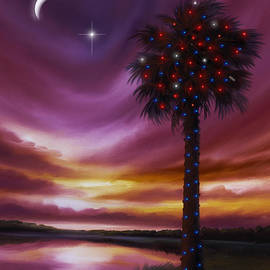 James Christopher Hill - Christmas Palmetto Tree