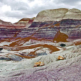 Ruth Hager - Clouds over Blue Mesa Trail in Petrified Forest National Park-Arizona