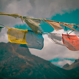 Raimond Klavins - Colourfull Praying Buddhist Flags Lungta