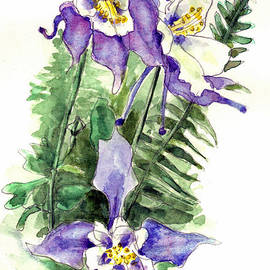 Blenda Studio - Columbine Flowers Art