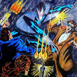 Justin Moore - Darkhawk Issue 1 Homage to Mike Manley