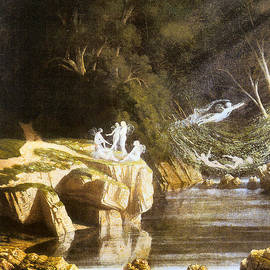 Francis Danby - Fairies by a Rocky Stream