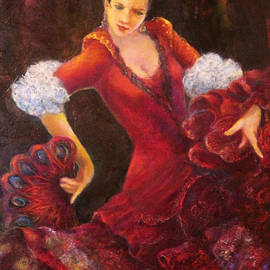 Sylva Zalmanson - Flamenco dancer with a fan