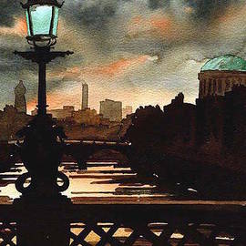 Val Byrne - Four Courts Evening  Dublin