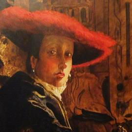 Dagmar Helbig - Girl with Red Hat - after Vermeer