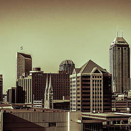 Indianapolis Skyline - Black and White