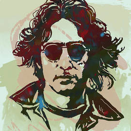 Kim Wang - John Lennon pop art sketch poster