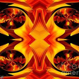 J McCombie - Kiss Orange Flame Abstract
