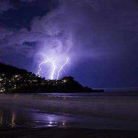 Bryant Coffey - Lightning over the Ocean
