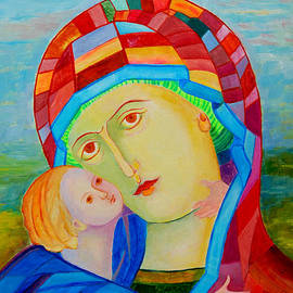 Magdalena Walulik - Madonna and Child colorful icon
