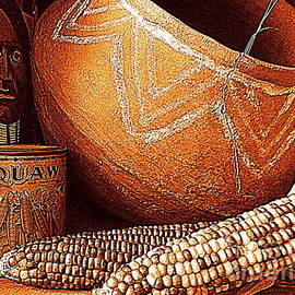 Michael Hoard - Maize The Indian Corn Still Life In New Orleans Louisiana