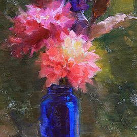 Karen Whitworth - Market Melody - Dahlias and Cattails