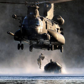 Celestial Images - MH-47 Chinook helicopter