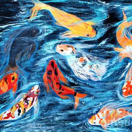 Oksana Semenchenko - Nine Koi fish. Inspirations Collection.