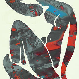 Kim Wang - Nude pop stylised paper cut art poster