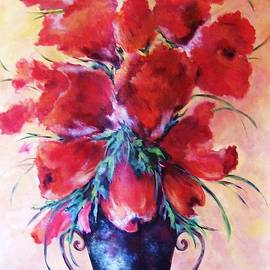 Betty Pinkston - Red Floral