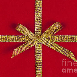Elena Elisseeva - Red gift with gold ribbon