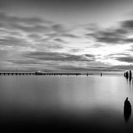Peta Thames - Shorncliffe Pier in Monochrome