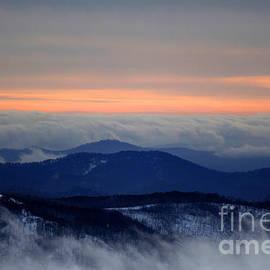 John Wallace - Sunset on the mountain