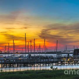 Dale Powell - Sunset Over Charleston Harbor