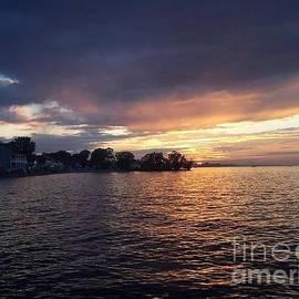 Charlotte Gray - Sunset over Lake Ontario beach