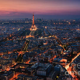Henk Meijer Photography - Sunset over Paris taken from the Tour Montparnasse Tower
