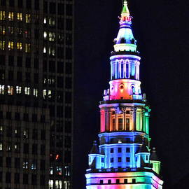 Frozen in Time Fine Art Photography - Terminal Tower Rainbow