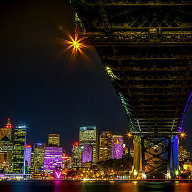 Paradigm Blue - Underbelly of Sydney Harbour Bridge