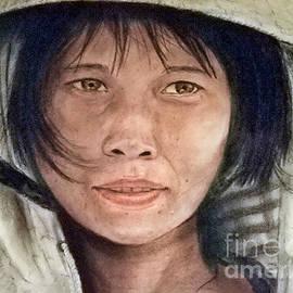 Jim Fitzpatrick - Vietnamese Woman wearing a Conical Hat