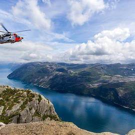 Aldona Pivoriene - View of Lysefjord from Preikestolen