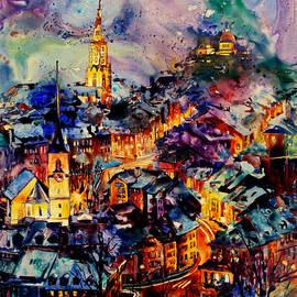 Ryan Fox - Watercolor on YUPO synthetic paper of Bern Switzerland
