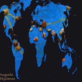 Augusta Stylianou - World Map and Capricorn Constellation