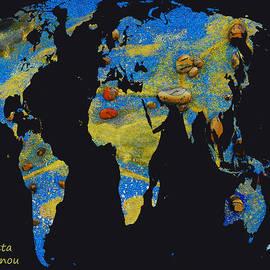 Augusta Stylianou - World Map and Leo Constellation