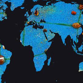 Augusta Stylianou - World Map and Virgo Constellation